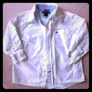 Tommy Hilfiger white cotton button down shirt EUC